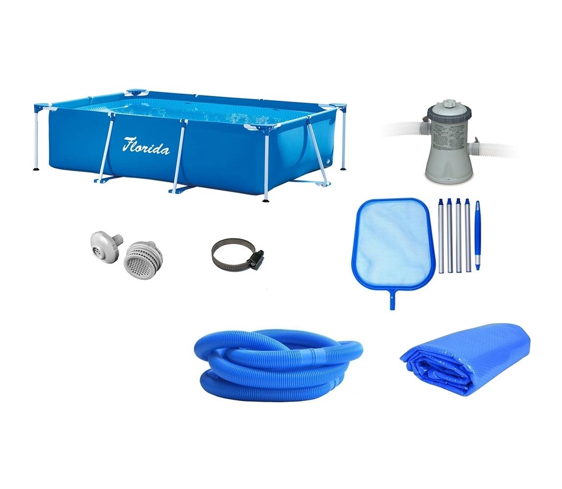 Bazén Florida 1,5 x 2,2 x 0,6 m + príslušenstvo - set POPULAR 1