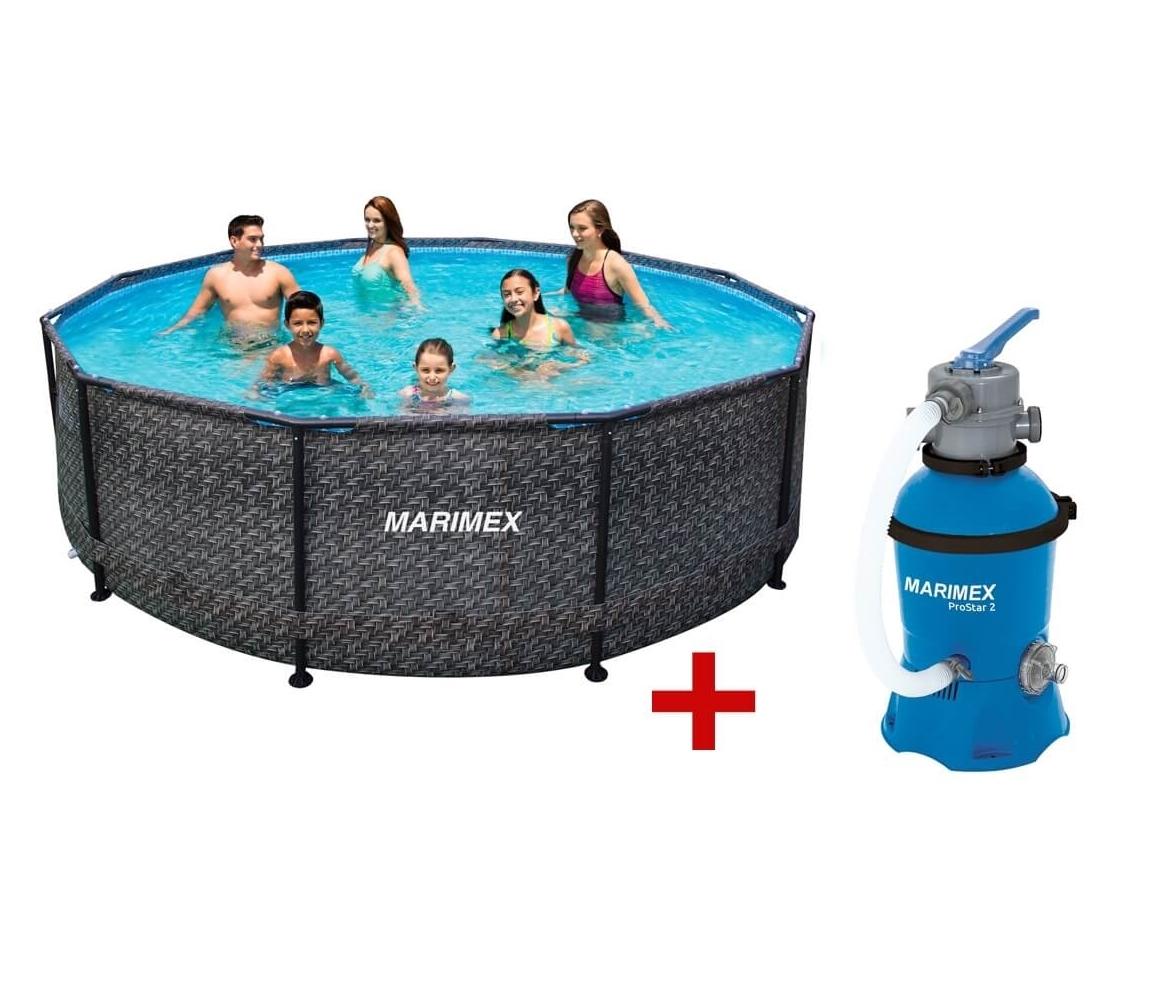 Bazén Florida 3,05 x 0,76 m s pieskovou filtráciou - motív RATAN