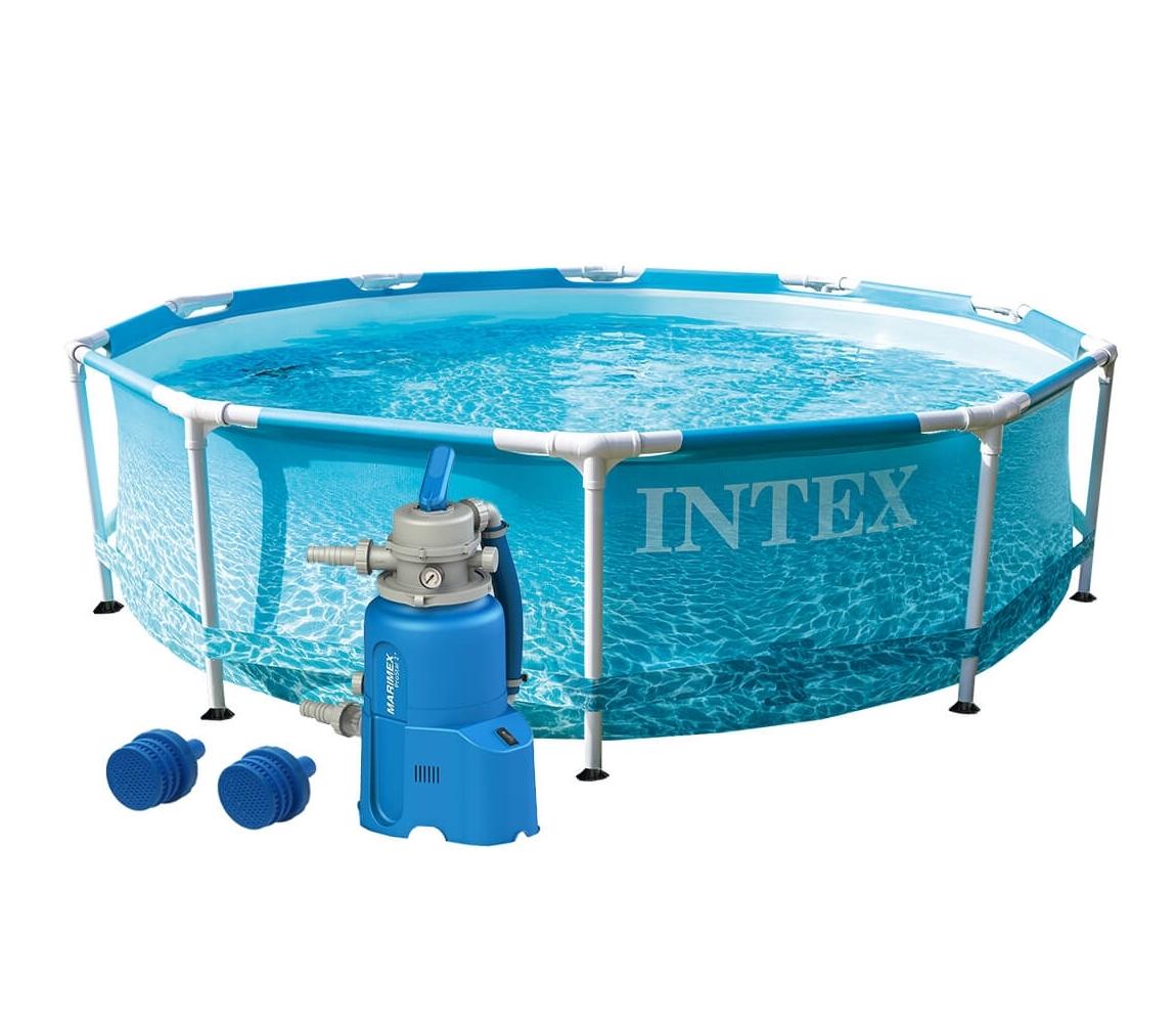 Bazén Florida 3,05x0,76 m s pieskovou filtráciou - motív BEACHSIDE