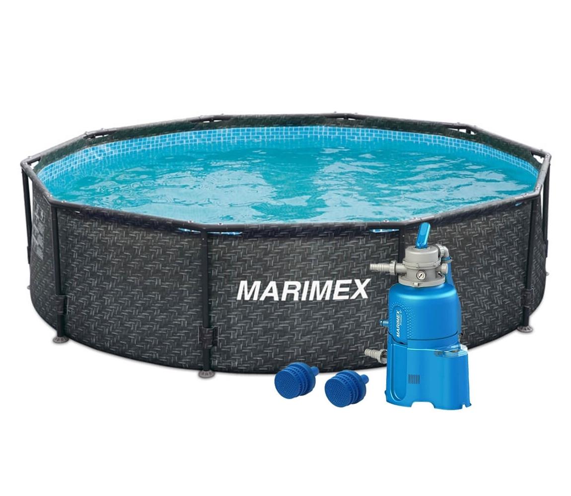 Bazén Florida 3,05x0,91 m s pieskovou filtráciou - motív RATAN