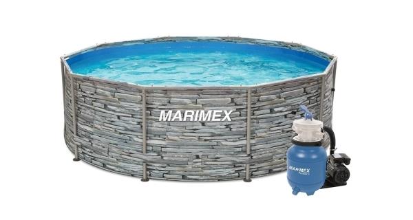 Bazén Florida 3,05x0,91 m s pieskovou filtráciou ProStar 3 - motív KAMEŇ