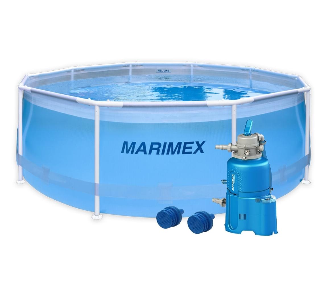 Bazén Florida 3,05x0,91m s pieskovou filtráciou - motív transparentný