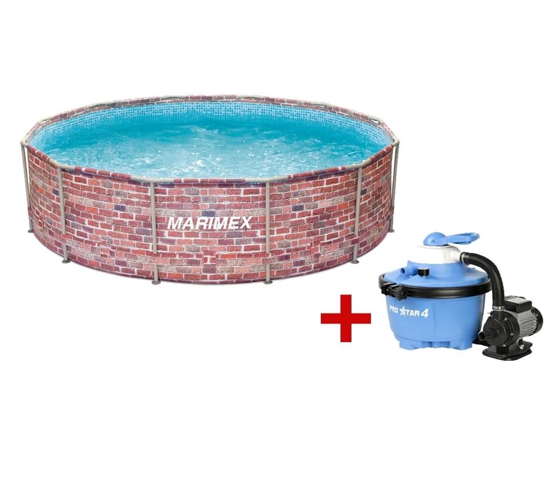 Bazén Florida 3,66 x 0,99m, s pieskovou filtráciou- motív TEHLA