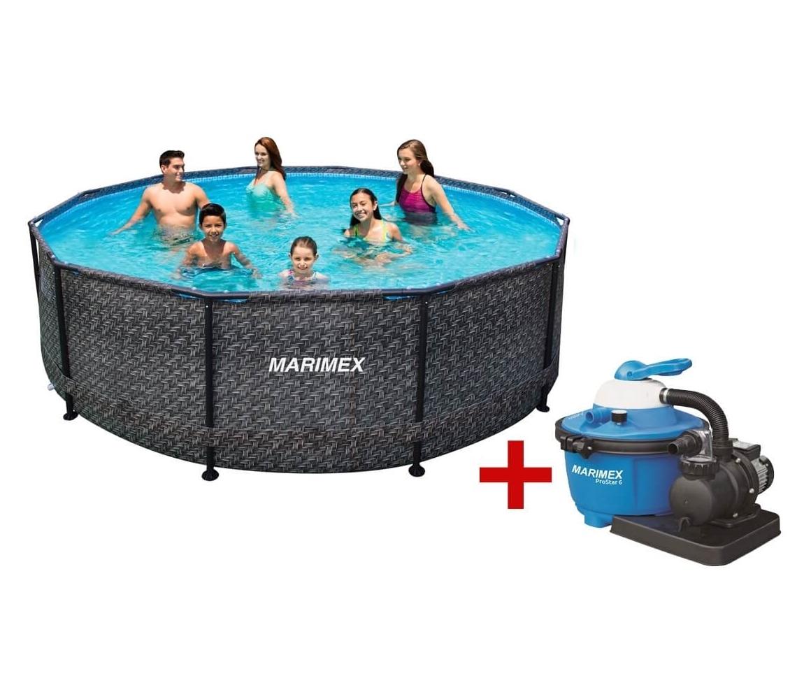 Bazén Florida 3,66 x 1,22 m s filtráciou - motív RATAN