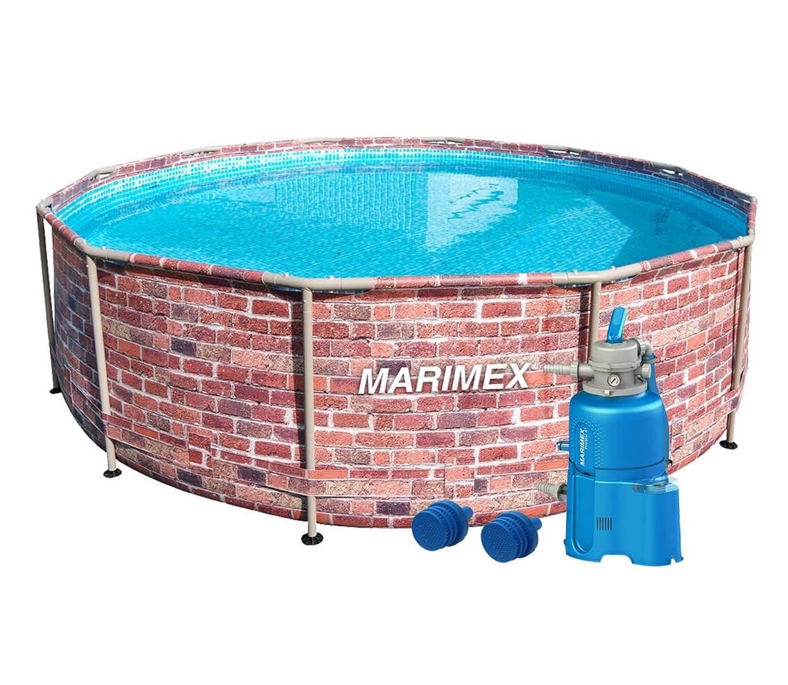Bazén Florida 3,66x0,99 m s pieskovou filtráciou - motív TEHLA