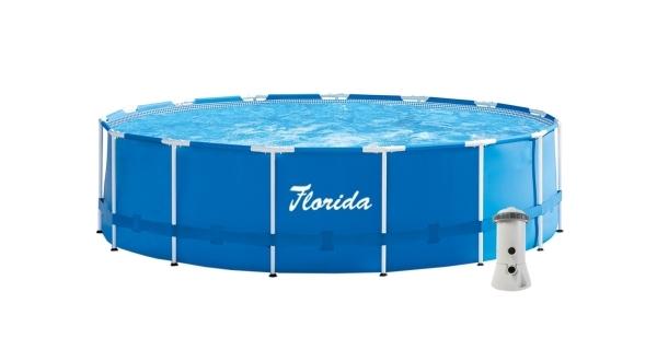 Bazén Florida 4,57 x 1,22 m s kartušovou filtráciou a schodíkmi