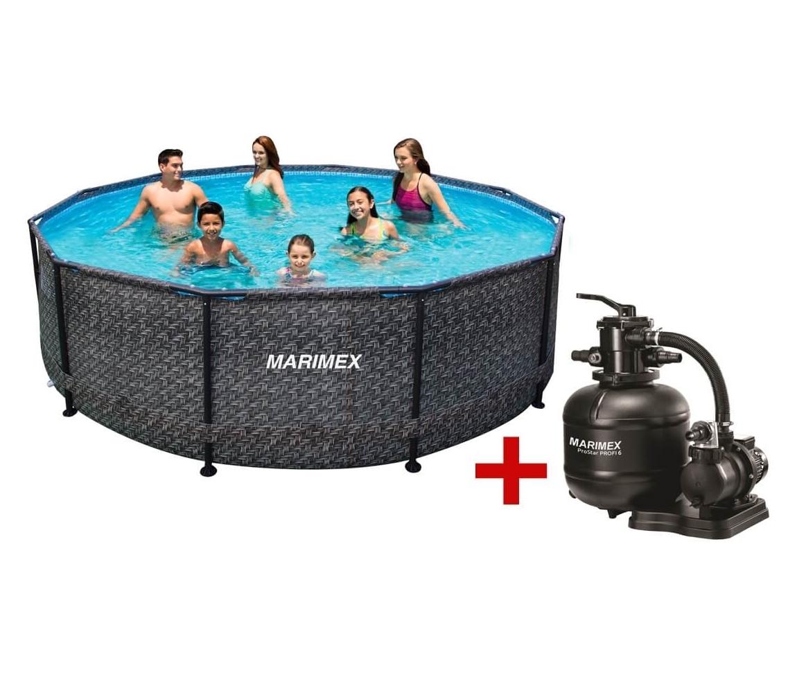 Bazén Florida 4,57 x 1,32 m s filtráciou - motív RATAN