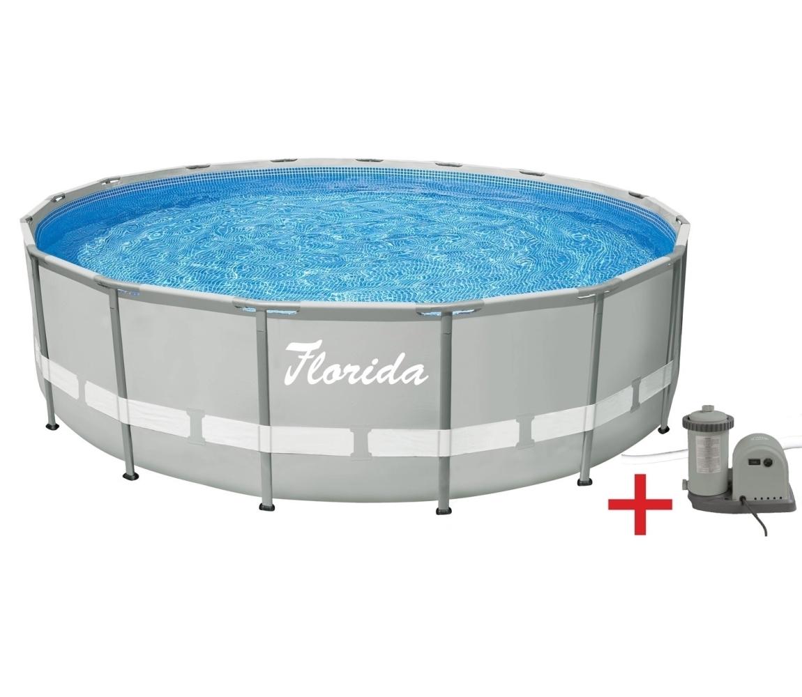 Bazén Florida Premium Florida Grey 4,88 x 1,22 m s kartušovou filtráciou