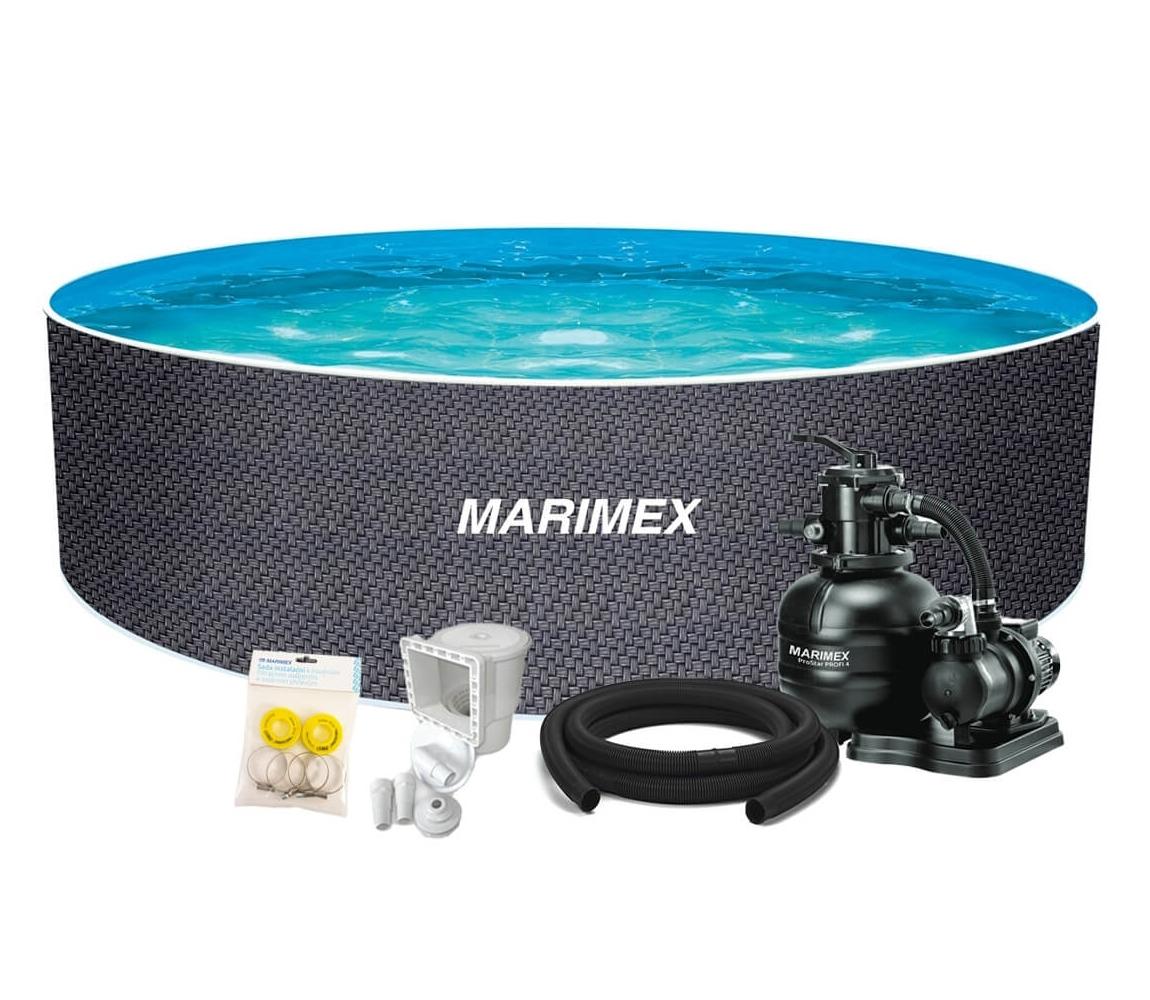 Bazén Orlando 3,66x1,22 m s pieskovou filtráciou a príslušenstvom - motív RATAN