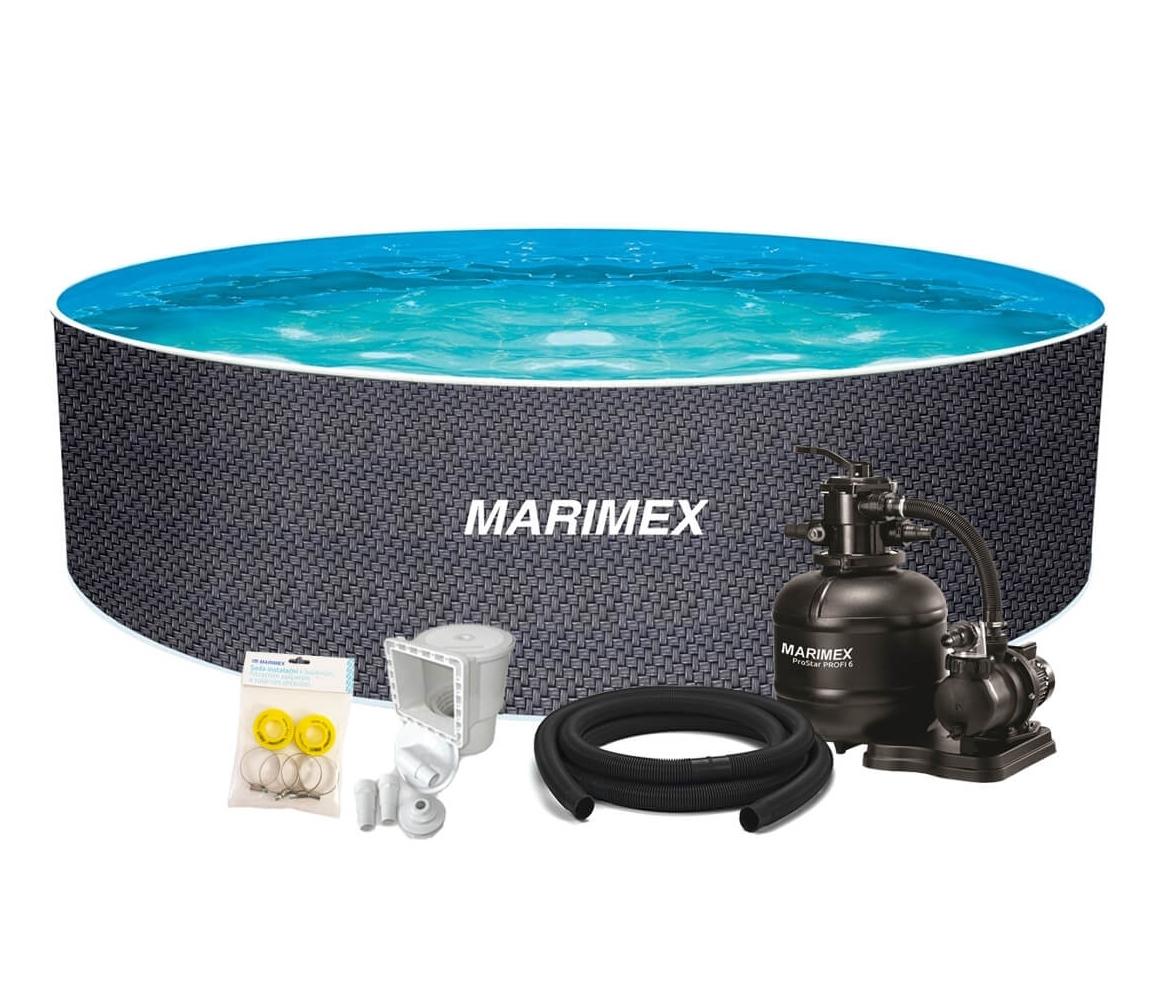 Bazén Orlando Premium DL 4,60x1,22 m s pieskovou filtráciou a príslušenstvom - motív RATAN