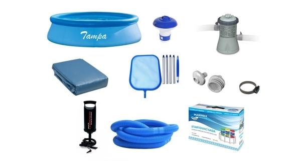 Bazén Tampa 2,44 x 0,76 m + príslušenstvo - set POPULAR 1