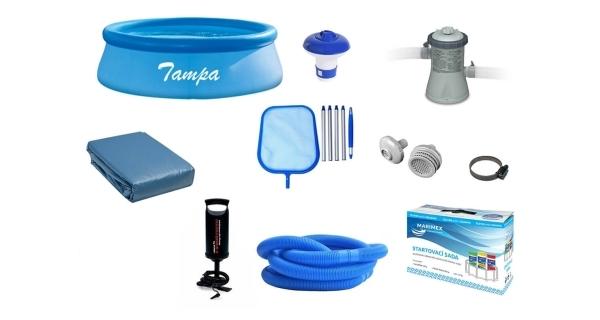 Bazén Tampa 3,05 x 0,76 m + príslušenstvo - set POPULAR 1