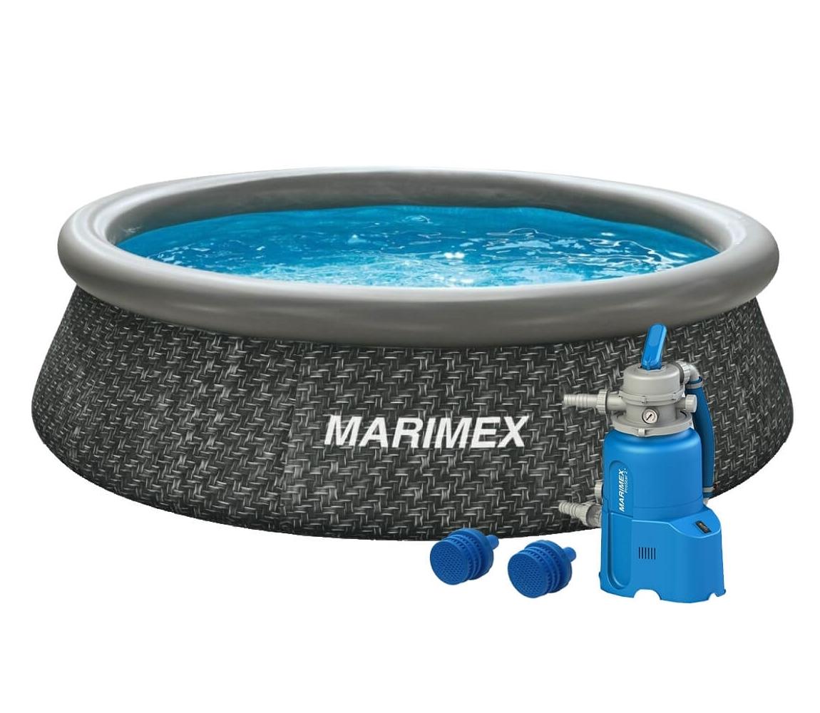 Bazén Tampa 3,05x0,76 m s pieskovou filtráciou - motív RATAN