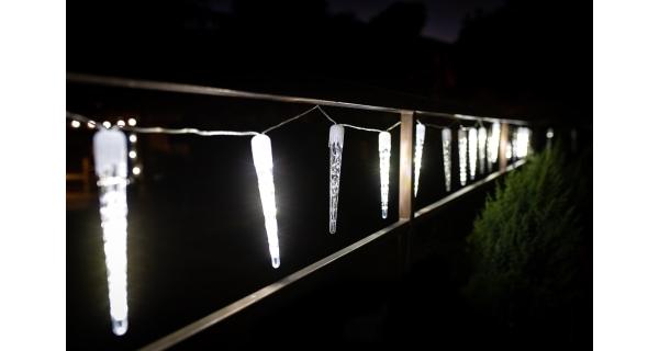 Cencúle s tečúcim efektom 360 LED - studená biela, 20 ks