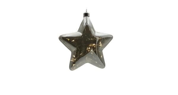 Crystal závesná hviezda 15 LED