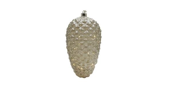 Crystal závesná zlatá šiška 15 LED