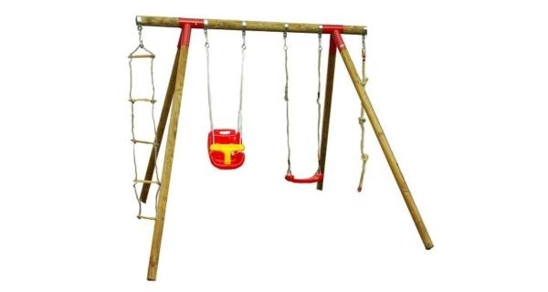 Detská drevená hojdačka Marimex 11