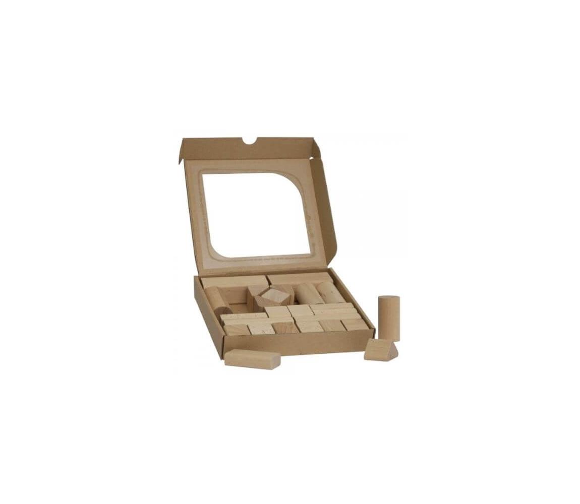 Detské drevené kocky 25 ks