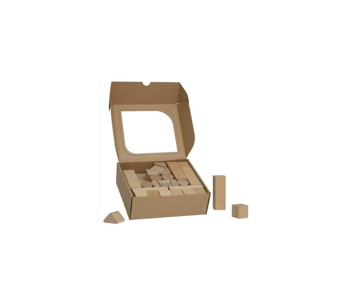 Detské drevené kocky 50 kc