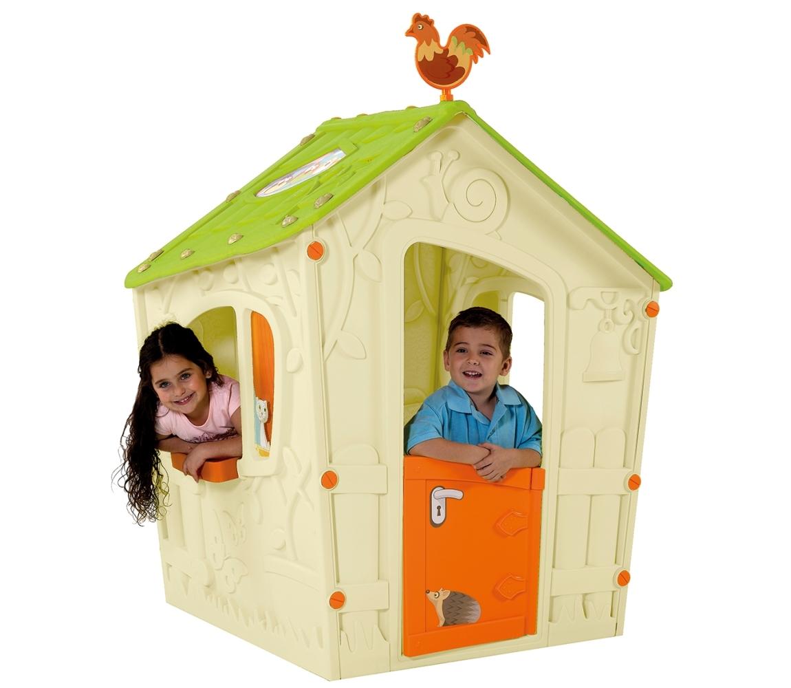 Detský domček Magic Play House - béžová + zelená