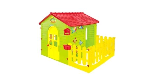 Detský domček Mochtoys s plotom
