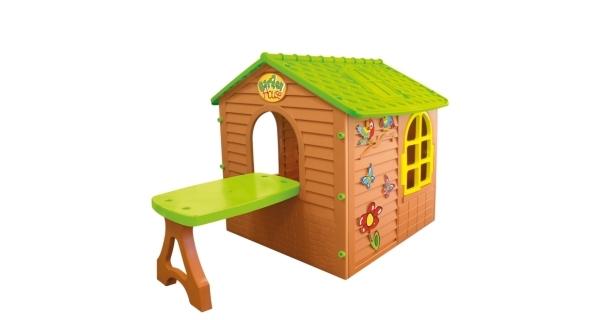 Detský domček Mochtoys so stolčekom