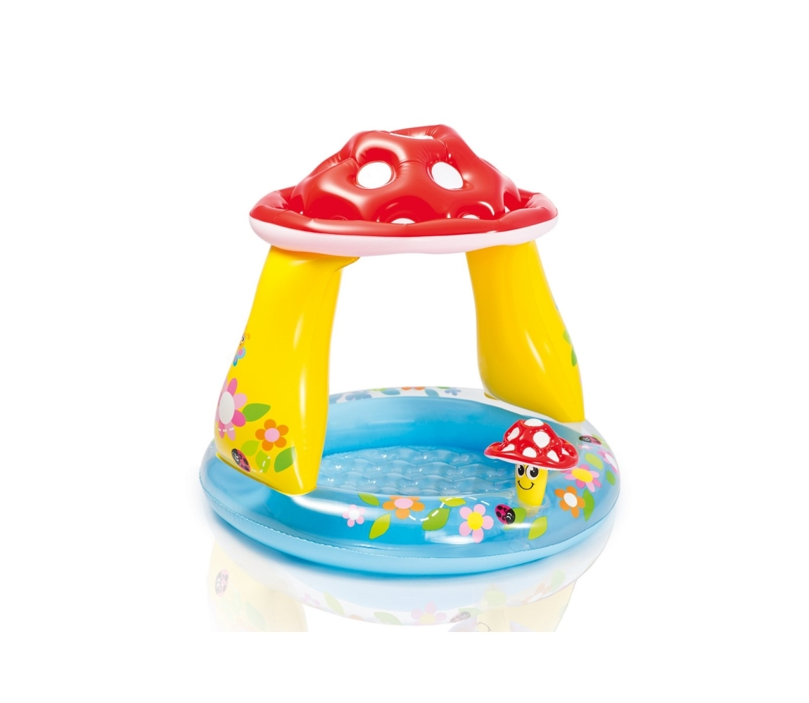 Detský nafukovací bazén so strieškou - muchotrávka