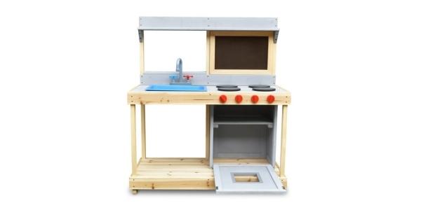 Kuchynka drevená s tabuľou