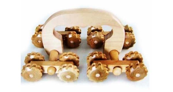 Masažítko - kôň drevený