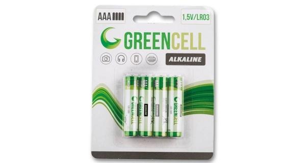 Mikrotužkové batérie  GreenCell AAA - 4 ks