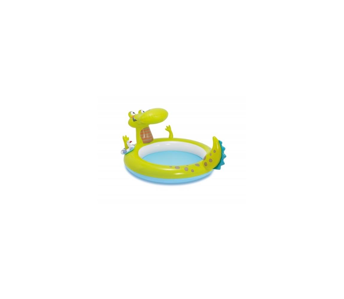 Nafukovací bazénik s vodotryskom v tvare krokodíla