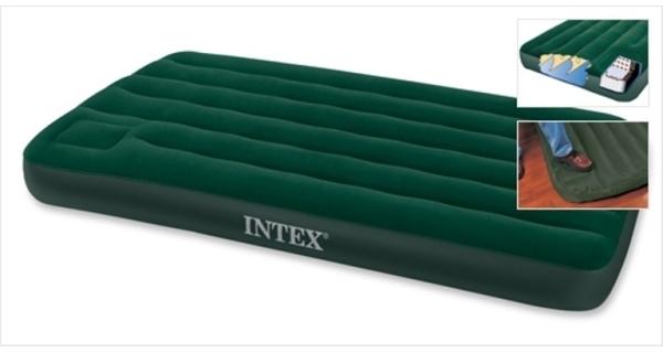 Nafukovacia posteľ Intex Downy Twin Cot