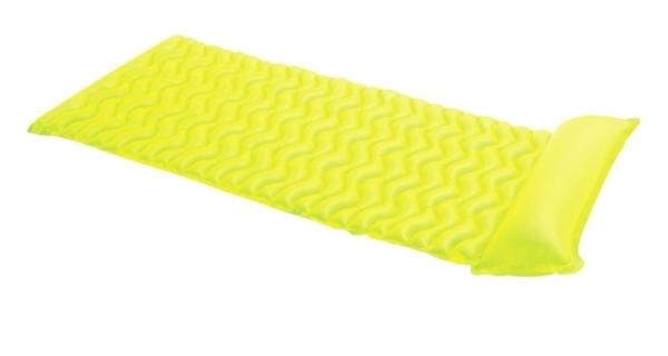 Nafukovacie lehátko - vlnovka žltá