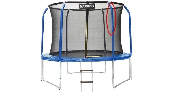 Náhradná stojka ochrannej siete pre trampolíny Marimex 305 cm (horná časť)
