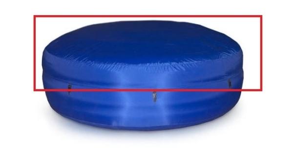 Nylonový poťah k vírivému bazénu Oáza - modrý (horný)