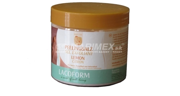 Peelingová soľ 0,5 kg - citrón
