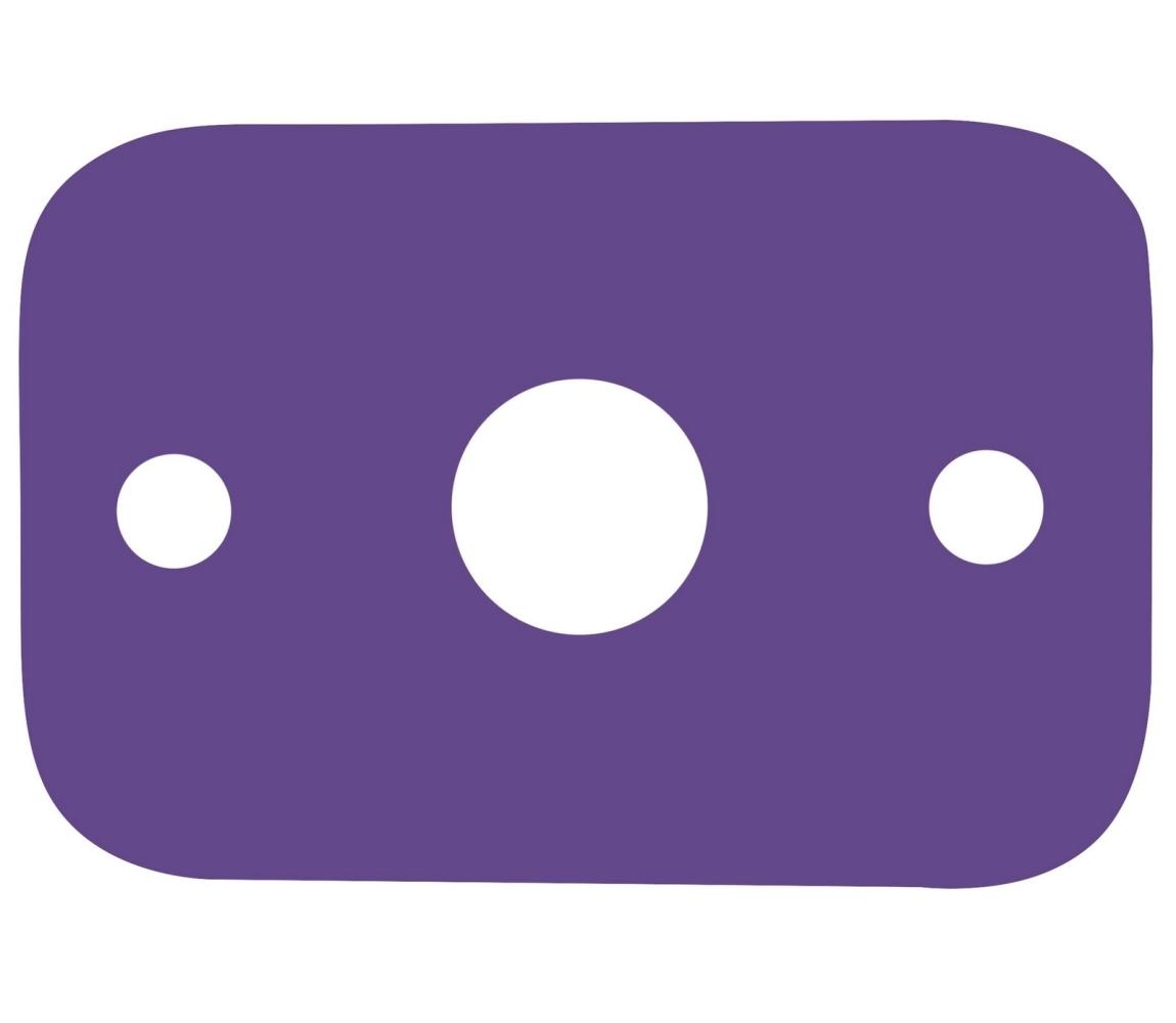 Plávacia doska - fialová