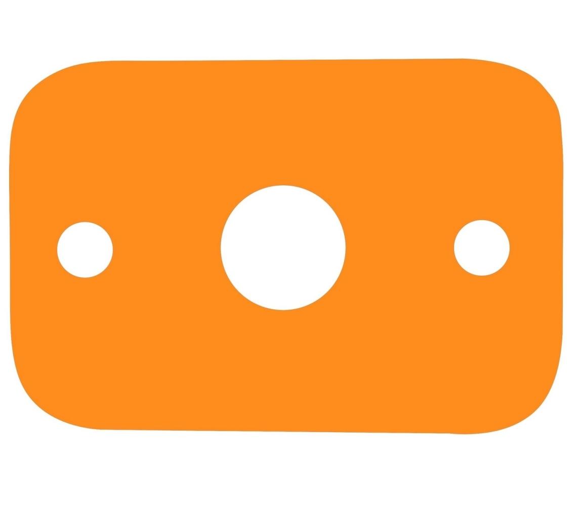 Plávacia doska - oranžová