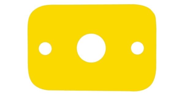 Plávacia doska - žlté