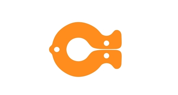 Plavák ryba - oranžová