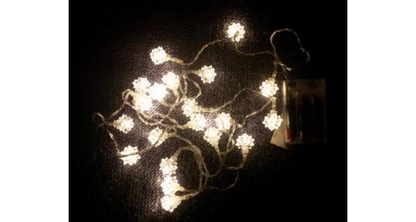 Reťaz hviezdy - 20 LED - teplá biela