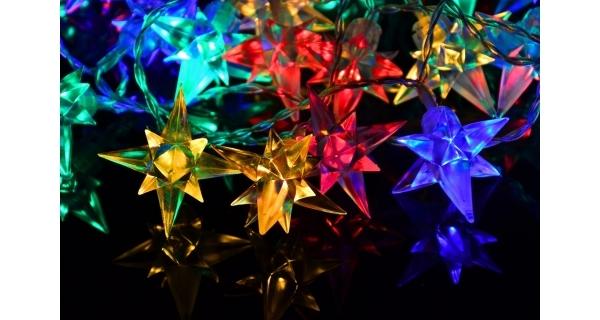 Reťaz hviezdy 4 m - 40 LED - farebná