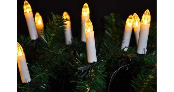 Reťaz sviečky 20 LED - teplá biela