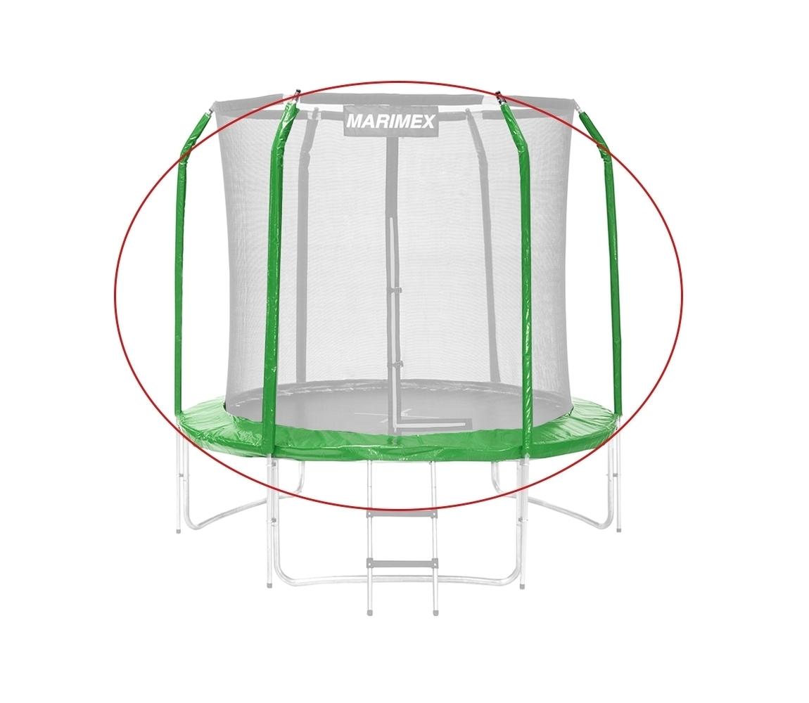 Sada krytu pružín a rukávov pre trampolínu 244 cm - zelená