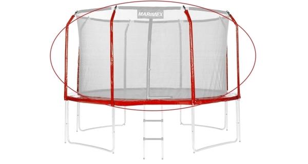 Sada krytu pružín a rukávov pre trampolínu 366 cm - červená