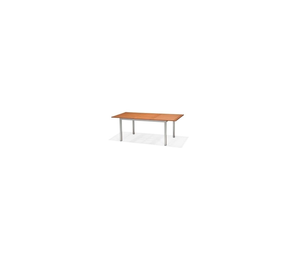 Stôl záhradný obdĺžnikový- hliník/drevo ► POSLEDNÝ 1 KUS