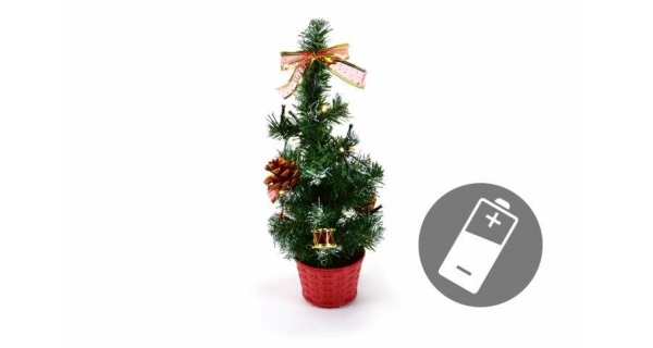 Stromček 10 LED - studená biela