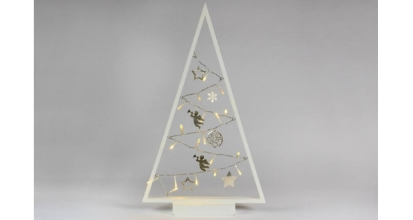 Stromček 15 LED - biela