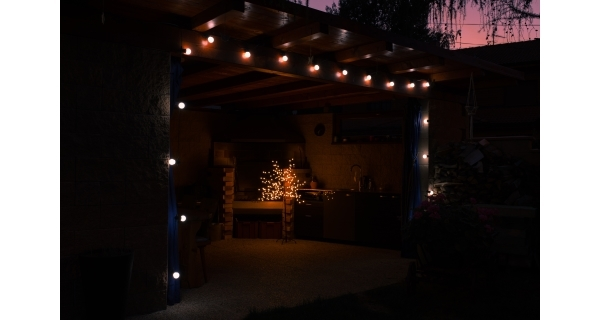 Svetelná párty reťaz 100 LED - studená biela