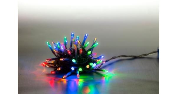 Svetelná reťaz 100 LED - farebná - mód